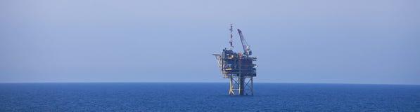 北海气体钻进法平台 库存照片
