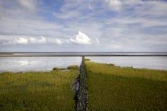 北海的盐沼 免版税库存照片