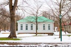北海道大学的冬天风景 库存图片