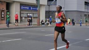 北海道Sapporro日本2017年8月从会集在国际事件的世界的马拉松运动员第20  免版税图库摄影