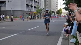北海道Sapporro日本2017年8月从会集在国际事件的世界的马拉松运动员第20  免版税库存图片