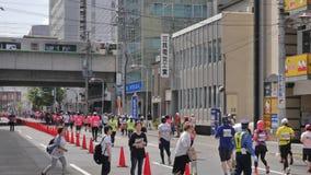 北海道Sapporro日本2017年8月从会集在国际事件的世界的马拉松运动员第20  库存照片