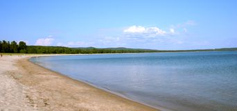 北的海滩 库存照片