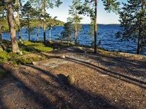 北的湖 免版税库存照片