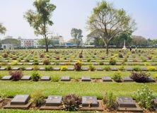 北碧战争公墓在泰国 免版税图库摄影