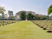 北碧战争公墓在泰国 免版税库存图片