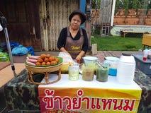 北碧,泰国- 11月26 :未认出的老亚洲wom 免版税库存照片