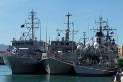 北约军舰 免版税库存图片
