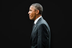 北约峰会的贝拉克・奥巴马在纽波特 库存照片