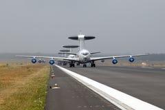 北约波音E3 AWACS雷达飞机 库存照片