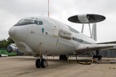 北约E3哨兵雷达天线整流罩飞机 库存照片