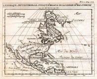 1712北美德莱尔地图  免版税库存照片