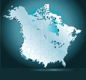 北美摘要 库存照片