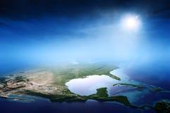 北美日出鸟瞰图 免版税库存图片
