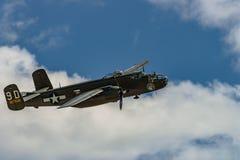 北美洲B-25J ` Mitchel `短时间 库存照片