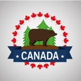 北美灰熊加拿大人框架 皇族释放例证