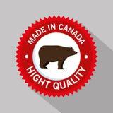 北美灰熊加拿大人框架 向量例证