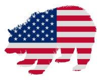 北美灰熊担任主角数据条 向量例证