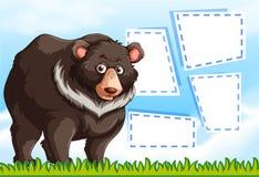 北美灰熊涉及笔记模板 库存例证