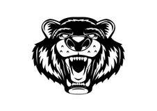 北美灰熊头商标 皇族释放例证