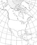北美等高线图  库存照片