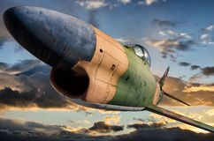 北美F-86D `马刀狗` 免版税库存图片