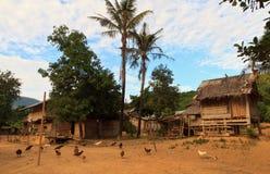 北老挝部落村庄 库存照片