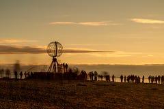 北角在芬马克郡,北挪威 免版税图库摄影