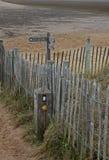 北诺福克区沿海小径, 库存图片
