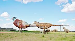 从北达科他的世界最大的野鸡 免版税库存图片