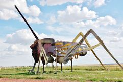 从北达科他的世界最大的grasshoper 库存照片