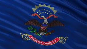 北达科他美国各州旗子-无缝的圈 向量例证