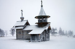 北部俄国木建筑学-露天博物馆基日岛,卡累利阿 免版税库存照片