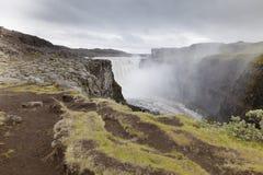北部冰岛的黛提瀑布瀑布 免版税库存图片
