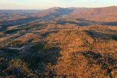 北部南卡罗来纳山麓小丘在黎明 免版税库存图片