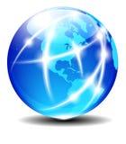 北部和南美全球性通信飞机 库存照片