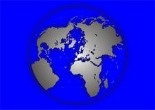 北部地球的例证 库存例证