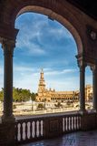 北部塔在西班牙地方在塞维利亚-西班牙 免版税库存照片
