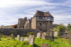 北部塔, Stokesay城堡,萨罗普郡,英国 免版税库存图片