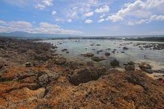 北部奥阿胡岛池pupukea岸浪潮 库存照片