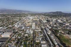 北部好莱坞加利福尼亚下午天线 库存照片
