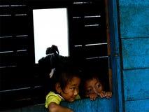北部孟加拉,米里克的孩子 库存图片