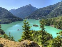 北部小瀑布Turquoise湖 库存图片