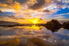 北部岸夏威夷日落 图库摄影