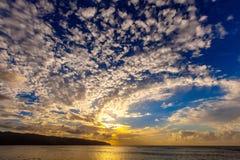 北部岸夏威夷日落 库存照片