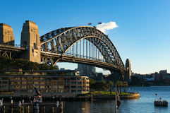北部悉尼悉尼港桥和看法  图库摄影