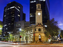 北部悉尼邮局日落 免版税库存图片