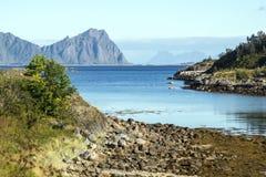 北部挪威的海 免版税库存图片