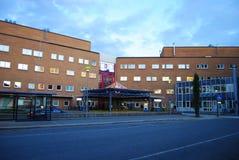 北部挪威,特罗姆瑟的大学医院 免版税库存照片