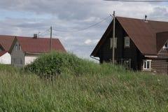 北部村庄,阿尔汉格尔斯克州oblast 库存照片